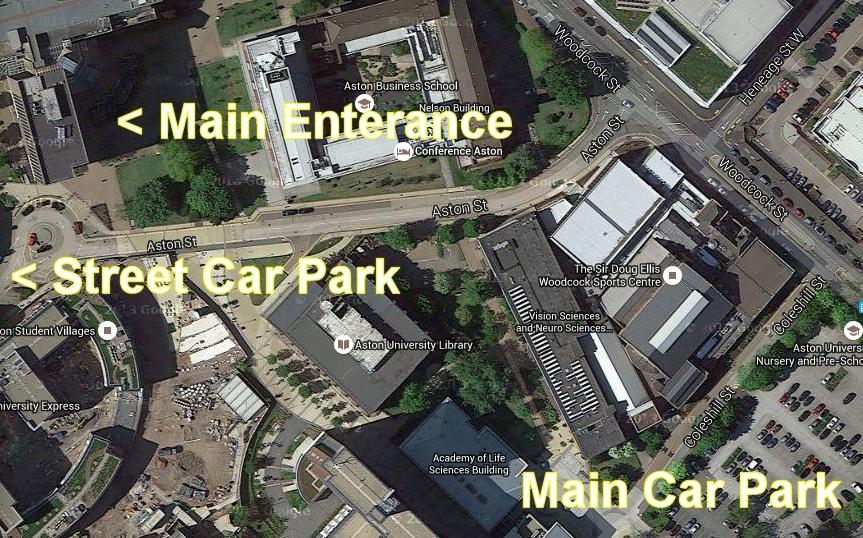 Aston University Main Building Map