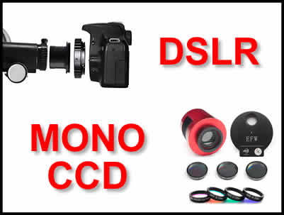 Taking images DSLR or CCD